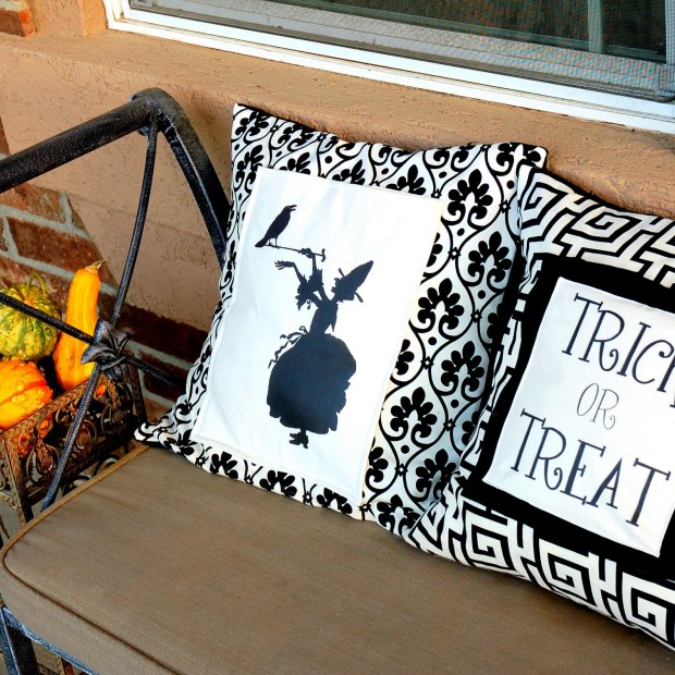 Kết quả hình ảnh cho Witch's Silhouette Pillow halloween sewing