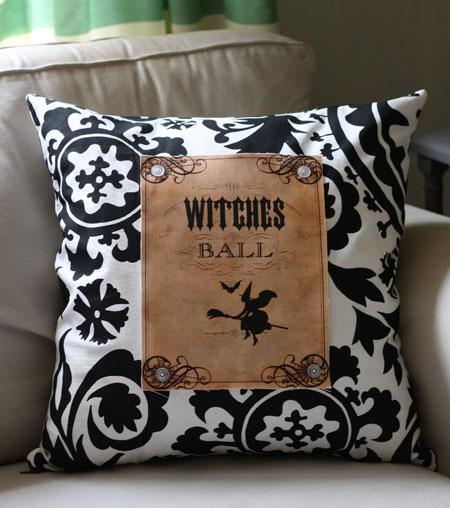 Kết quả hình ảnh cho Witches Silhouette Pillow sewing