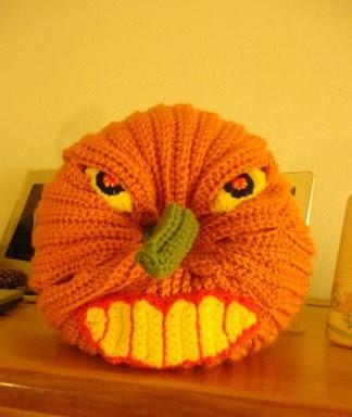 Kết quả hình ảnh cho 21 - Scary Halloween Pumpkin crochet