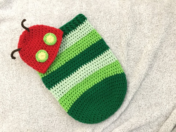 Kết quả hình ảnh cho Caterpillar Cocoon Free Crochet Pattern