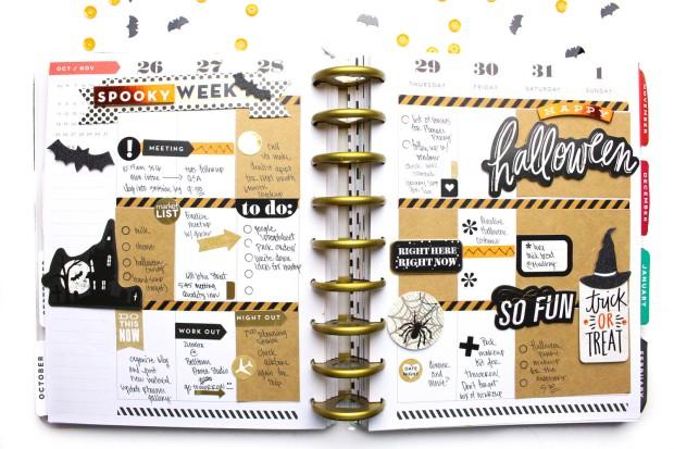 Kết quả hình ảnh cho 4- Halloween Scrapbook Page from Me and My Big Ideas